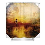 Turner Joseph Mallord William The Exile And The Snail Joseph Mallord William Turner Shower Curtain