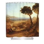 Turner Joseph The Bay Of Baiae With Apollo And The Sibyl Joseph Mallord William Turner Shower Curtain