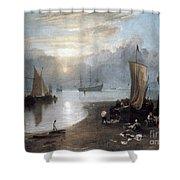 Turner: Sun Rising C1807 Shower Curtain by Granger