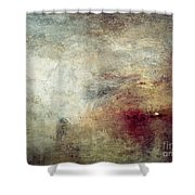 Turner: Sun Setting, C1840 Shower Curtain