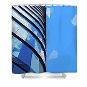Turning The Corner - The Skywards Series Shower Curtain