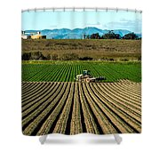 Turning The Soil Shower Curtain