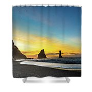 Turning The Trolls To Stone Shower Curtain
