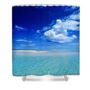 Turquiose Lagoon Shower Curtain