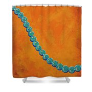 Turquoise Beads Shower Curtain