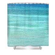 Turquoise Blue Carribean Water Shower Curtain