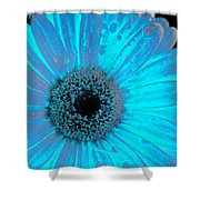 Turquoise Burn Shower Curtain