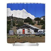 Turquoise Bus Shower Curtain