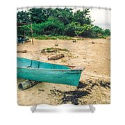 Turquoise Canoe Negril Shower Curtain