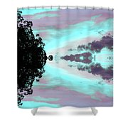 Turquoise Diamonds In The Sky Shower Curtain