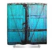 Turquoise Doors Shower Curtain