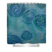 Turquoise Flora Shower Curtain