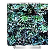 Turquoise Garden Of Glass Shower Curtain