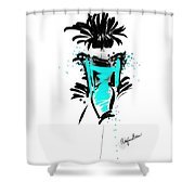 Turquoise In The City Shower Curtain