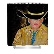 Turquoise Lady 3 Shower Curtain