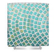 turquoise meets green P2 Shower Curtain