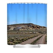 Turquoise Mine Off Hwy 142 2 Shower Curtain