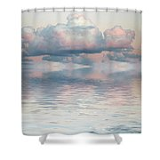 Turquoise Moon Rise Shower Curtain