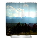 Turquoise Mountain X Shower Curtain