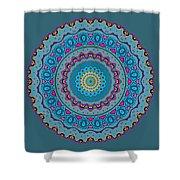 Turquoise Necklace Mandala Shower Curtain