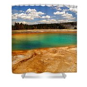 Turquoise Pool  Shower Curtain