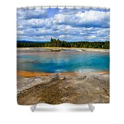 Turquoise Pool, Yellowstone Shower Curtain