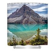 Turquoise Reflection At Bow Lake Shower Curtain