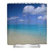 Turquoise Shoreline Shower Curtain