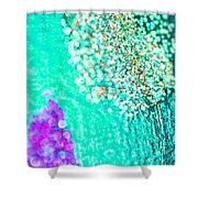 Turquoise Spell Shower Curtain