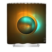 Turquoise Sun Shower Curtain