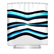 Turquoise Teal Abstract Lines Shower Curtain