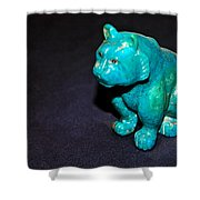 Turquoise Tiger Shower Curtain