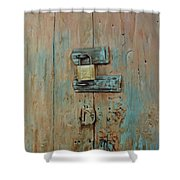 Turquoise Turning Pink Shower Curtain