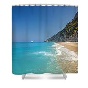 Turquoise Water Paradise Beach Shower Curtain