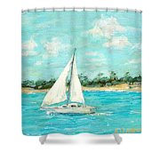 Turquoise Waters Shower Curtain