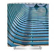 Turquoise Wave Shower Curtain