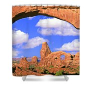 Turret Arch, Arches National Park Shower Curtain