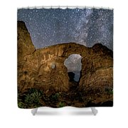Turret Arch Milkyway, Arches National Park, Utah Shower Curtain