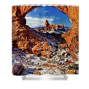Turret Arch Through North Window Arches National Park Utah Shower Curtain