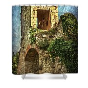 Turret At Wallingford Castle Shower Curtain