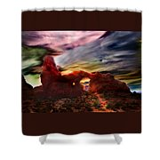 Turret Storm Shower Curtain