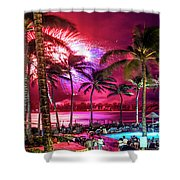 Turtle Bay - Independence Day Shower Curtain