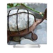 Turtle Full Of Rocks Shower Curtain