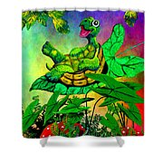Turtle-totter Shower Curtain