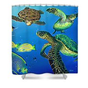 Turtle Towne Shower Curtain