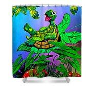 Turtle Trampoline Shower Curtain