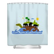 Turtles All The Way Down Shower Curtain