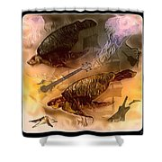 Turtles Play Yard Shower Curtain