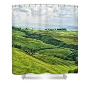 Tusacny Hills I Shower Curtain