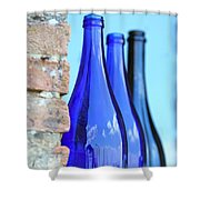 Tuscan Blue Reflections Shower Curtain